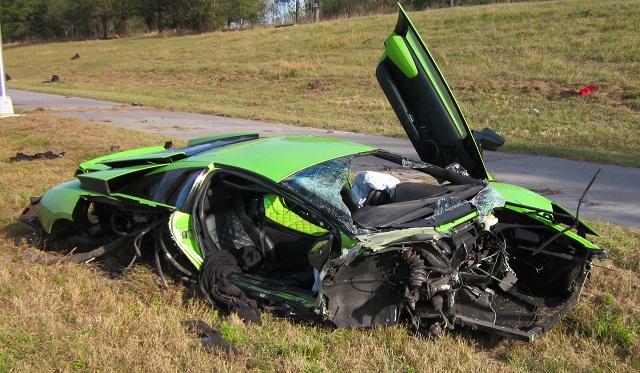 Lamborghini Murcielago LP640 Crash