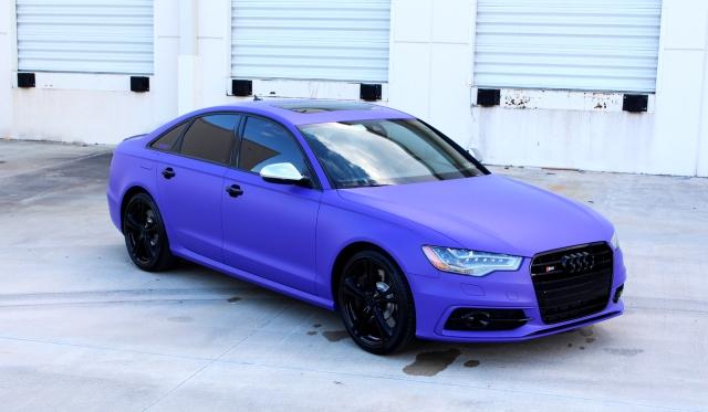 Matte Purple Wrapped 2013 Audi S6 by Superior Auto Design
