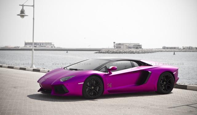 Nassar Al Thani Matte Purple Lamborghini Aventador LP700-4