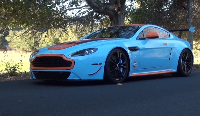 Video: Gulf Aston Martin V12 Vantage in Action