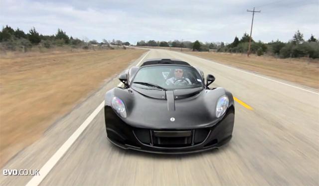 Video: Hennessey Venom GT Spyder Driven by Evo