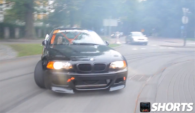 Video: BMW E46 M3 Drifting on the Streets of Poland
