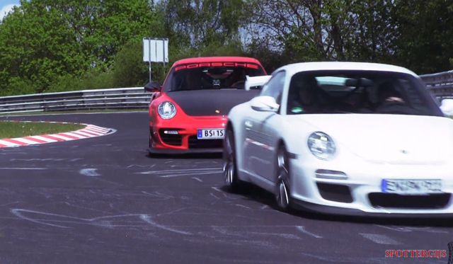 video porsche gt3 rs 4 0 and gt2 rs on the nurburgring gtspirit. Black Bedroom Furniture Sets. Home Design Ideas
