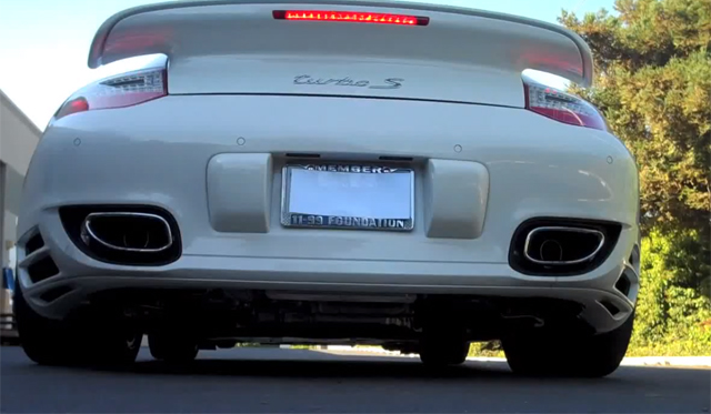 Porsche 911 Turbo With SharkWerks Exhaust System
