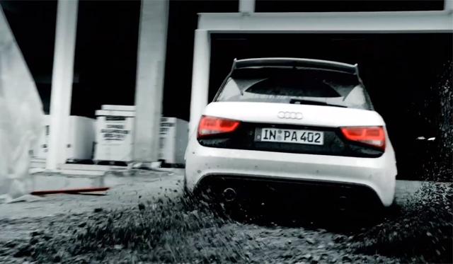 Video: Audi A1 Quattro Doing Gymkhana