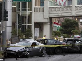 Shooting and Crash on Las Vegas Strip Leaves Three Dead
