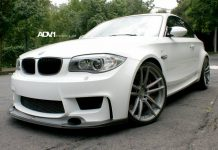 White BMW 1M Riding on ADV.1 Wheels