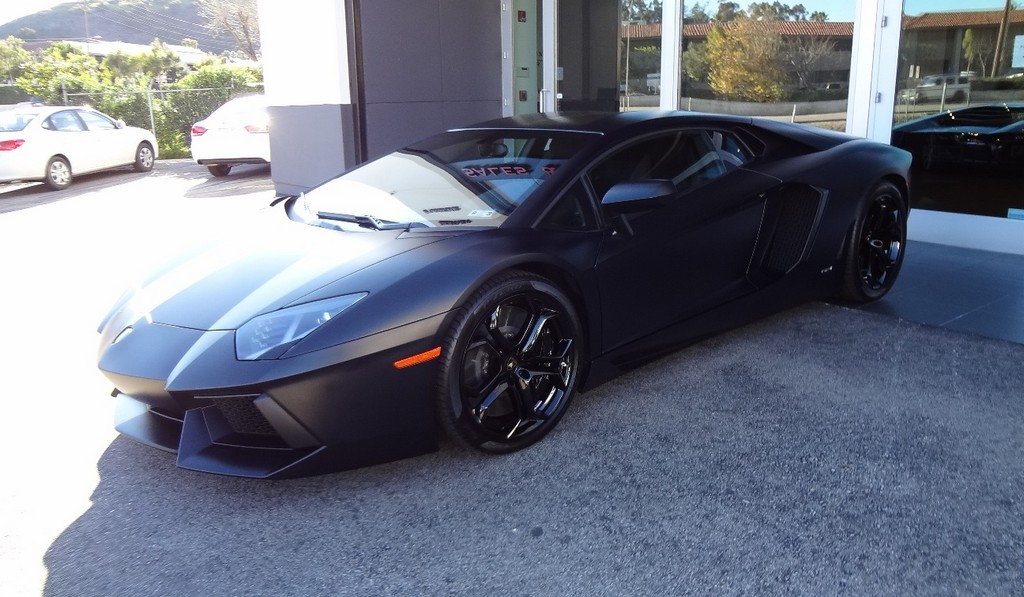 Kanye West Sells Matte Black Lamborghini Aventador for $445K