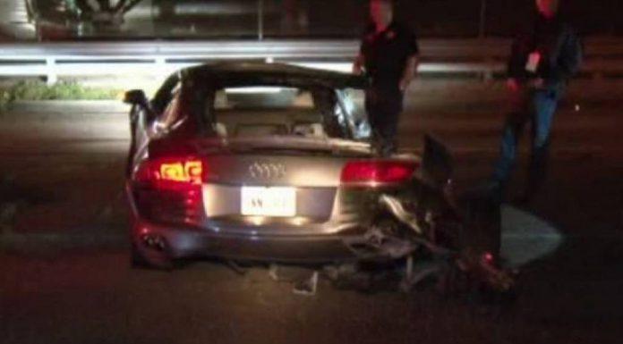 Man Crashes Audi R8 Into Tree in Houston