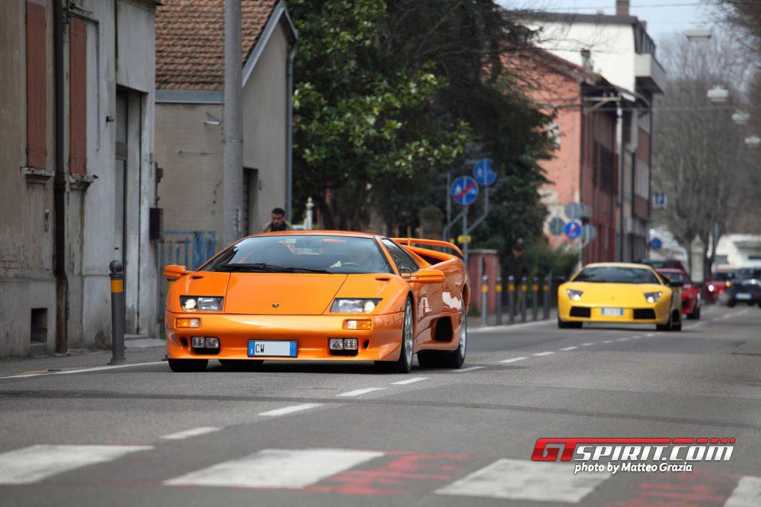Motori and Sapori Supercars Gathering in Castelfranco Emilia Italy