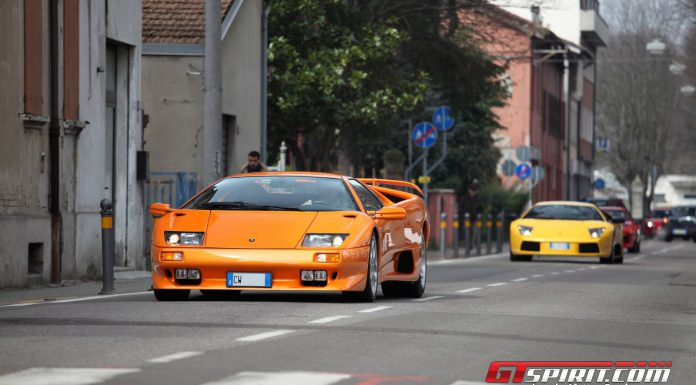 Motori and Sapori Supercars Gathering in Castelfranco Emilia Italy