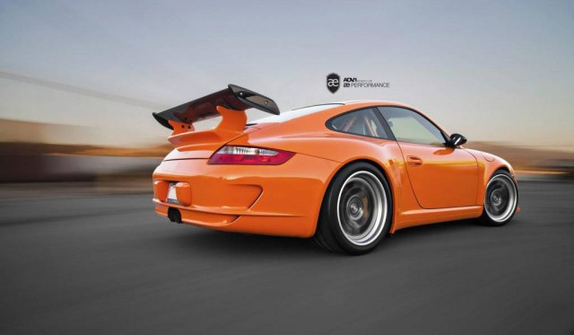 Orange Porsche 911 GT3 RS on ADV.1 Wheels by AE Performance