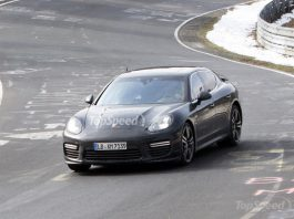 Spyshots: Facelifted Porsche Panamera at the Nurburgring