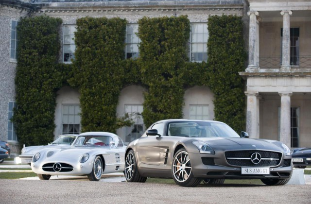 1955 Mercedes-Benz SLR Uhlenhaut Coupeand SLS AMG GT to Star at Goodwood
