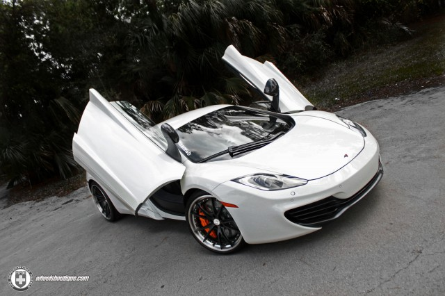 White McLaren MP4-12C on ADV.1 Wheels