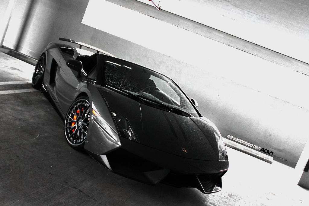 Lamborghini Gallardo LP570-4 Performante on Black ADV.1 Wheels