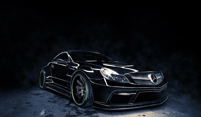 Gallery: Black Mercedes SL Sidewinder by Renown A.S.