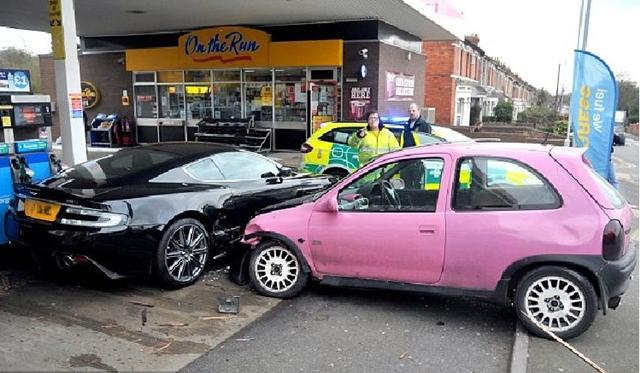 Car Crash: Aston Martin DBS in Swindon
