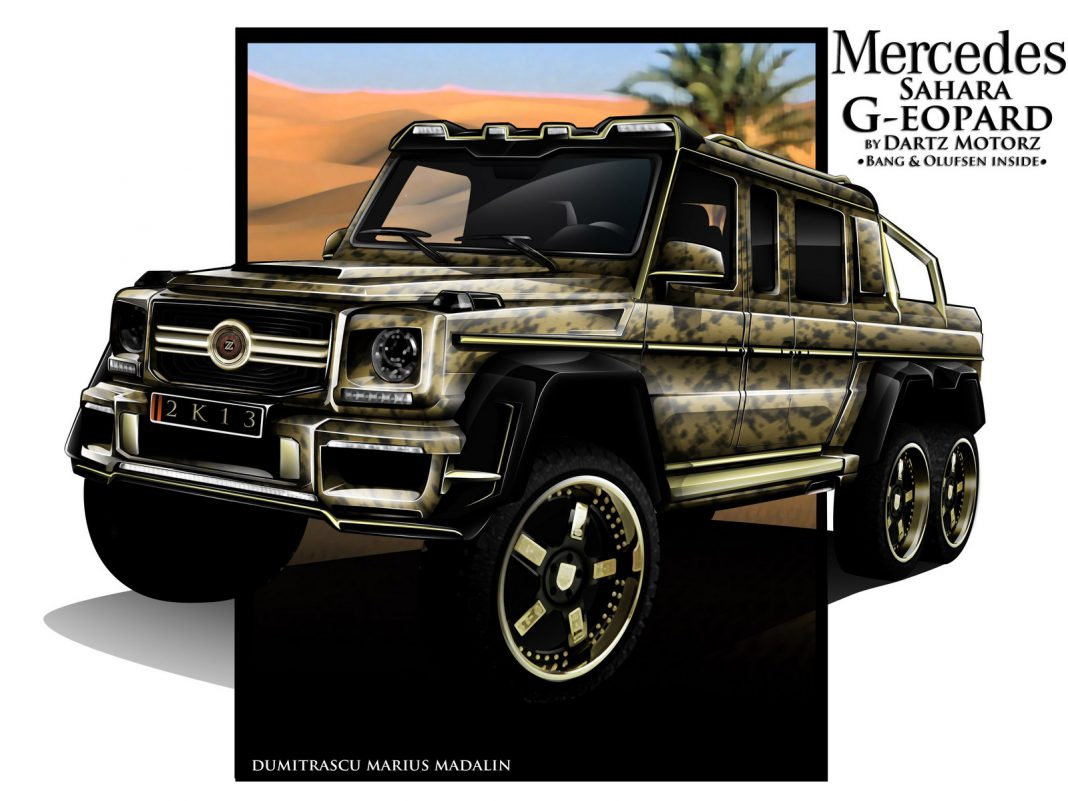 6x6 Mercedes Benz G63 AMG Sahara G-eopard by Dartz Motors