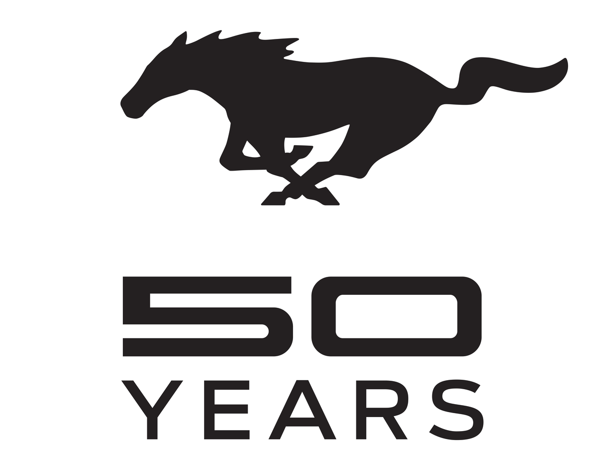Ford Mustang Celebrates 50 Years with New Logo - GTspirit