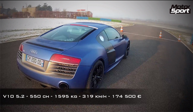 Video: Watch an Audi R8 V10 Plus Launch From 0-300km/h