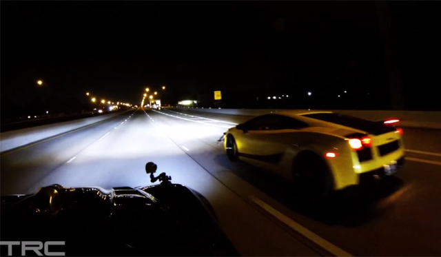 Video: 1500hp Lamborghini Gallardo vs 1700hp Chevrolet Corvette