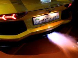 Video: Lamborghini Aventador Shooting Flames in Dubai