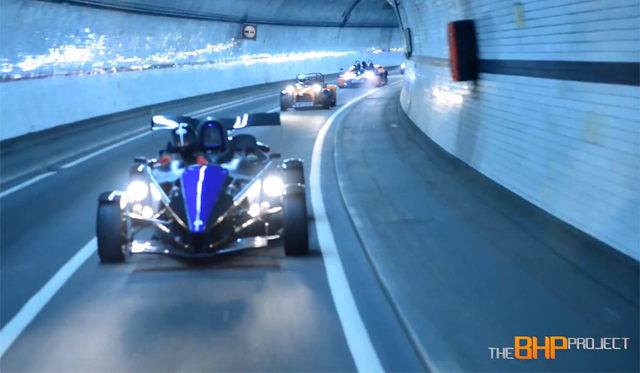 Video: London Trip in a BAC Mono, XBow, Atom and R300