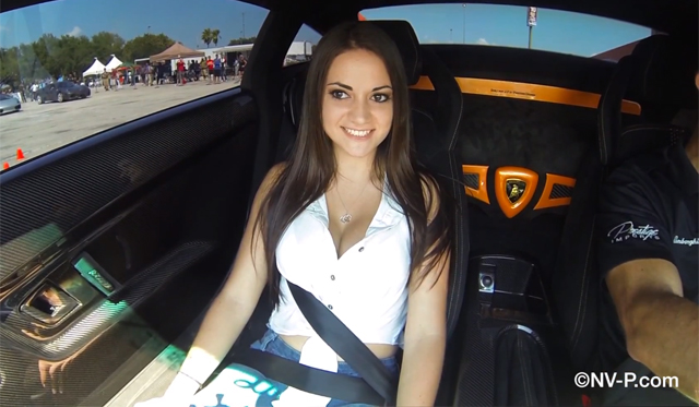 Video: Sexy Maria Riding in 1000hp Lamborghini Gallardo Superleggera