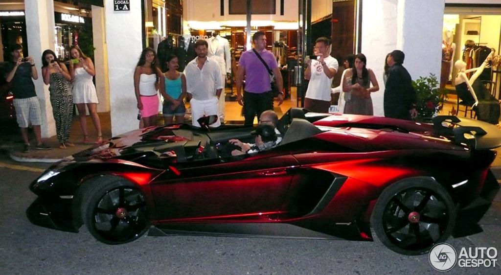 lamborghini aventador j roadster spotted in marbella spain