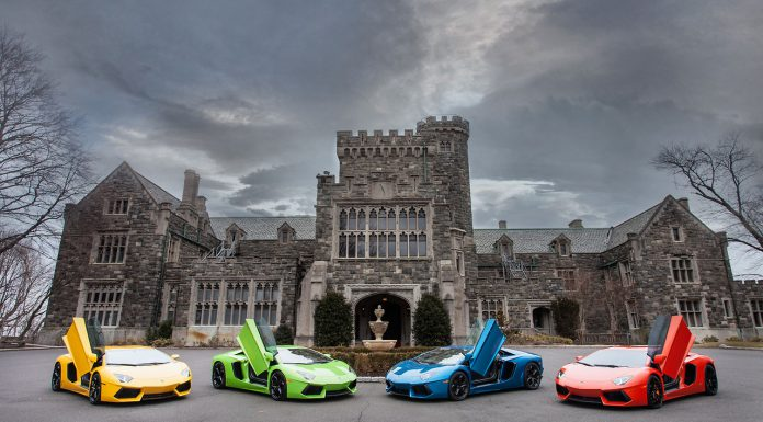 New Video and Images of Four Lamborghini Aventador's in New York City