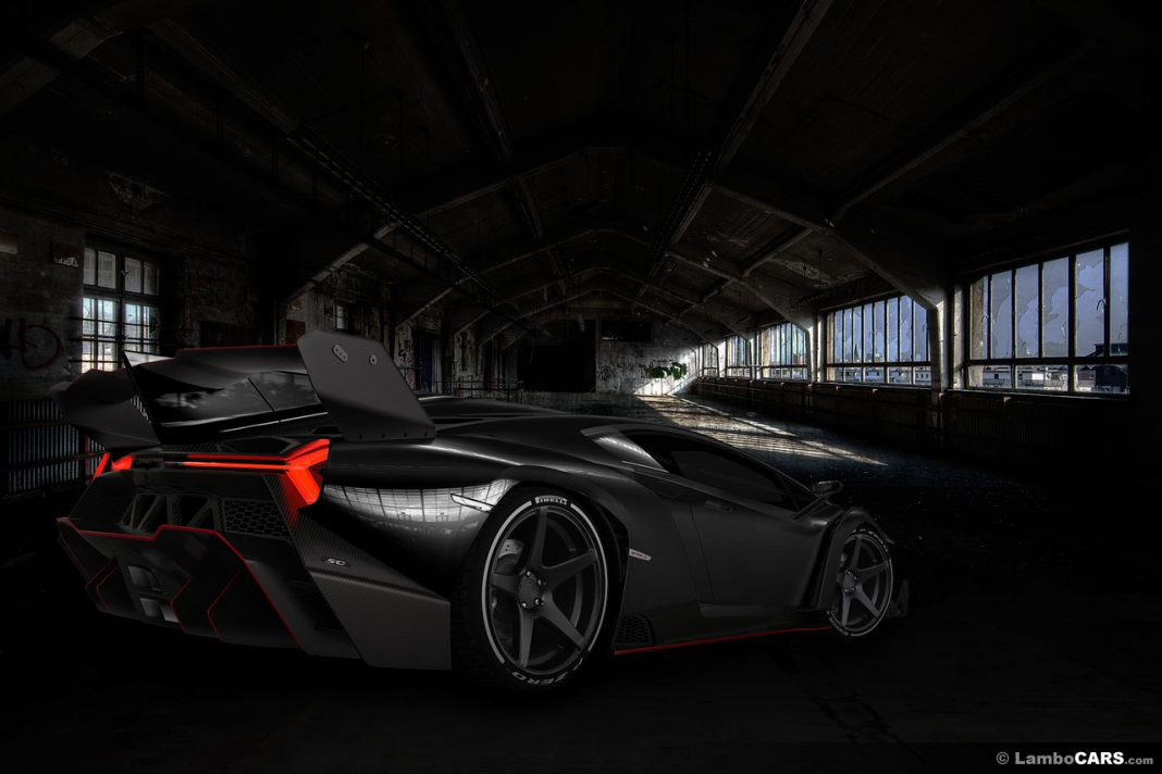 Render: Black Nero Lamborghini Veneno