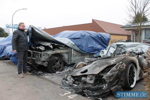 Lamborghini Gallardo Burnt in German Supercar Dealership Fire