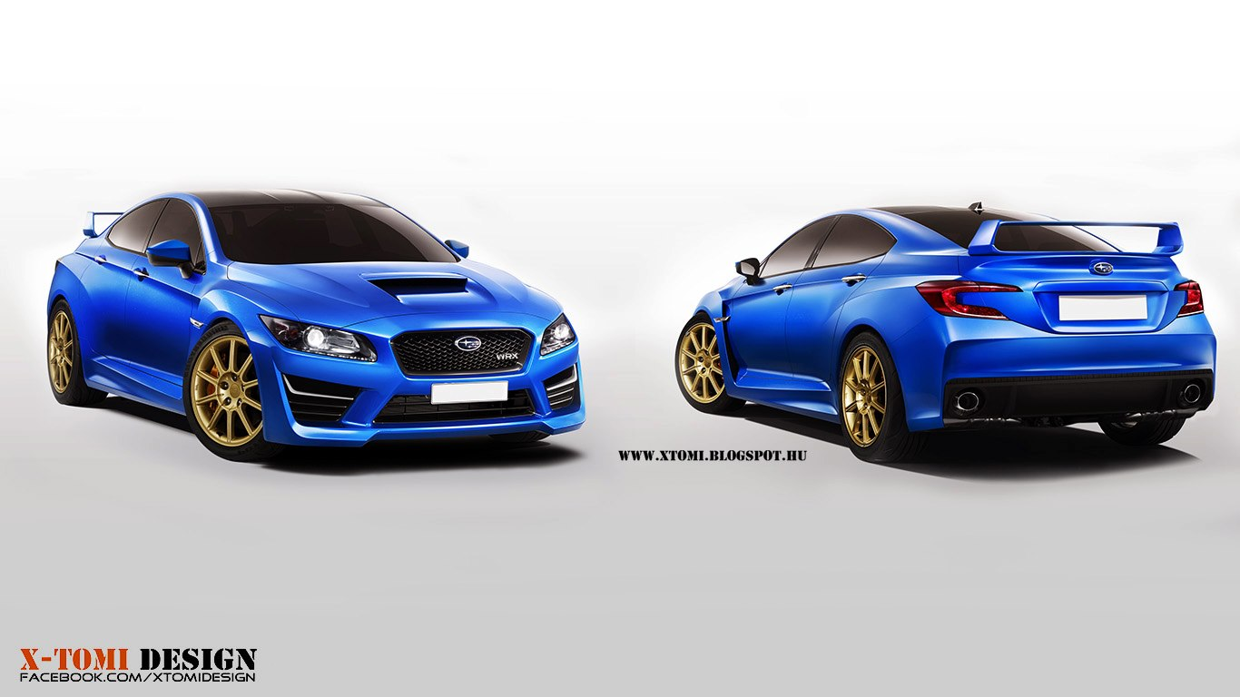 Render Subaru Impreza WRX STi Concept by XTomi Design  GTspirit