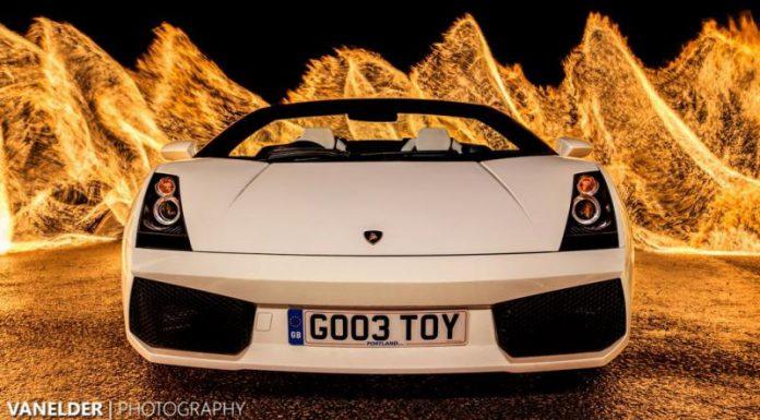 Fire Painting a Lamborghini Gallardo Spyder