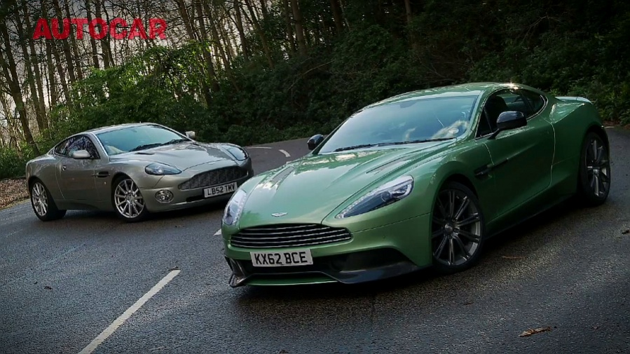 Video: 2013 Aston Martin Vanquish Meets Original in Autocar Test
