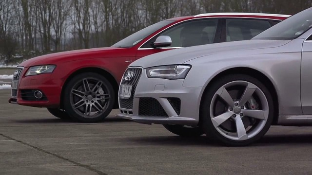 Video: Audi RS4 vs Audi S4 by REVO Technik on Chris Harris on Cars