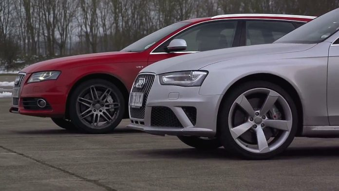 Video: Audi RS4 vs Audi S4 by REVO Technik on Chris Harris on Cars