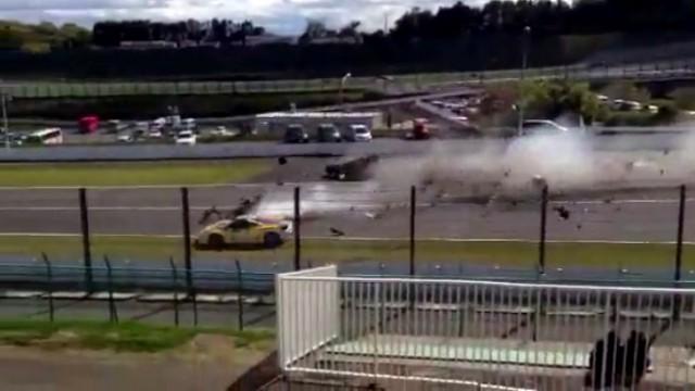 Ferrari 458 Challenge Crash