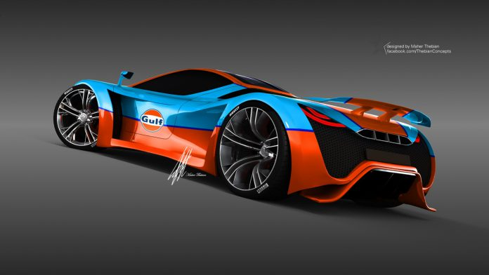 Render Pagani Thawra in Gulf Theme by Thebian Concepts