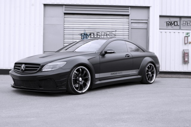 Moonshine matte black mercedes benz cl 500 by famous parts for Official mercedes benz parts