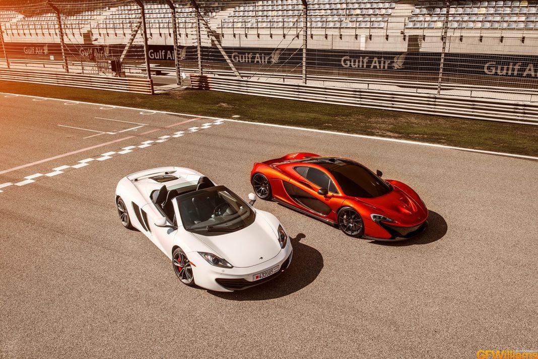 McLaren P1 and 12C Spider at Bahrain Circuit