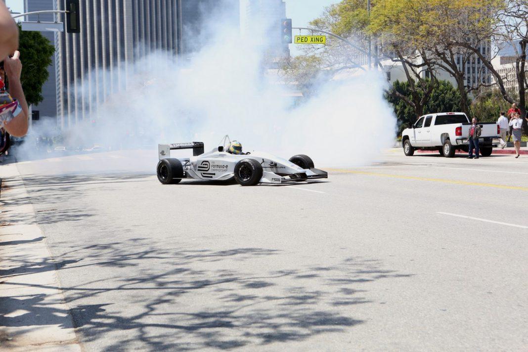 FIA Formula E Race Car in action