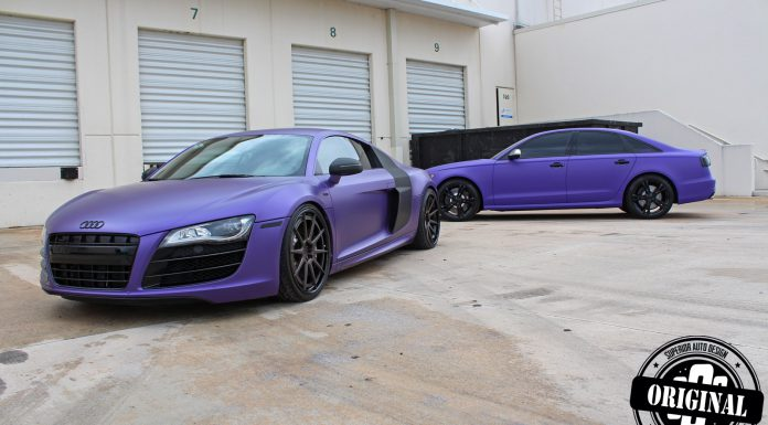 Avery's Matte Purple Audi R8 V10