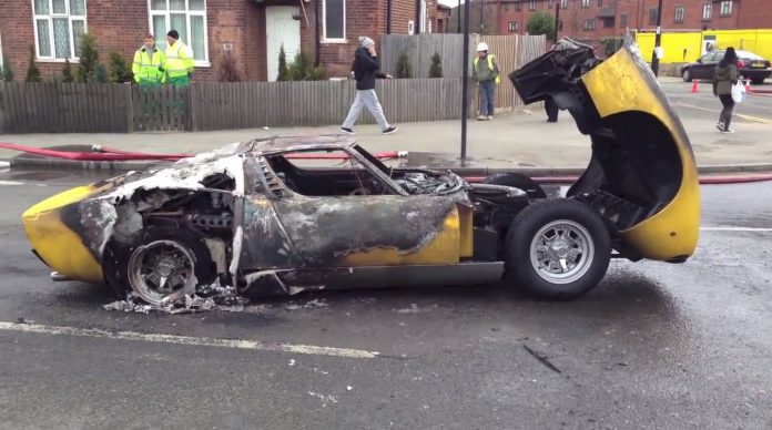 Lamborghini Miura SV Burns to the Ground in Central London