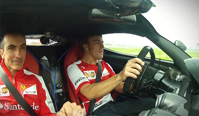 Video: Fernando Alonso Drives the LaFerrari
