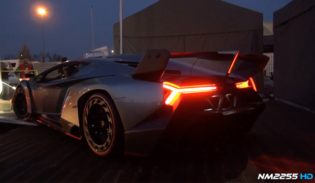 Video: Lamborghini Veneno Revving and Driving at Monza