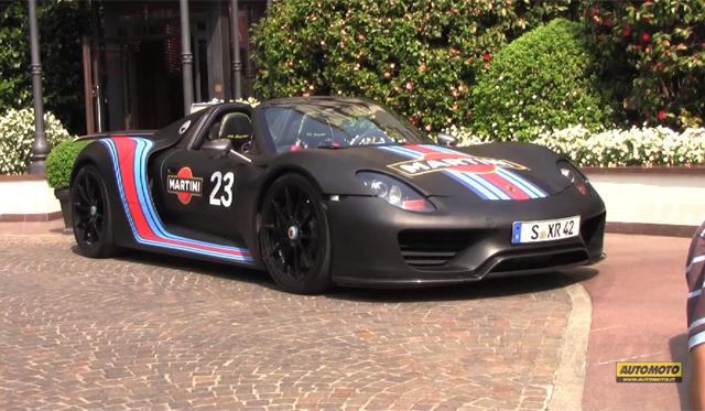 Video: Black Porsche 918 Spyder Spotted in Milan