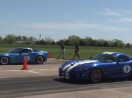 Video: 915hp Chevrolet Corvette C6 vs 900hp Dodge Viper SRT10