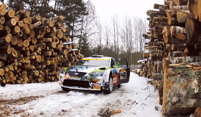 Video: Ken Block Racing Skiers in Russia